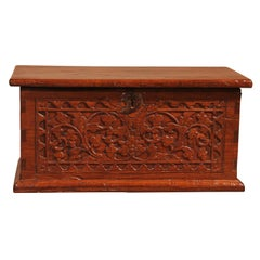 Small Indian Spice Chest in Teak, 19th Century