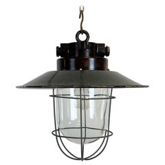 Small Industrial Factory Hanging Lamp, 1960s