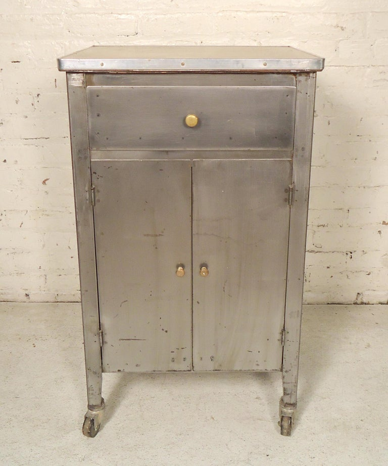 Damaged Kitchen Cabinets For Sale: Small Industrial Metal Cabinet For Sale At 1stdibs