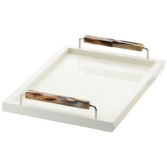 Small Isacco Tray in Wood with Finish by Arcahorn
