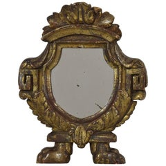 Small Italian 18th Century Giltwood Neoclassical Mirror
