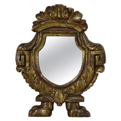 Small Italian 18th Century Giltwood Neoclassical Mirror