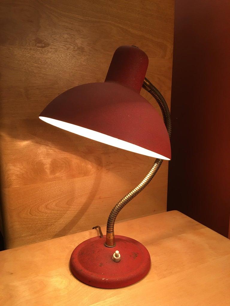 Mid-Century Modern Small Italian Adjustable Desk or Table Lamp For Sale