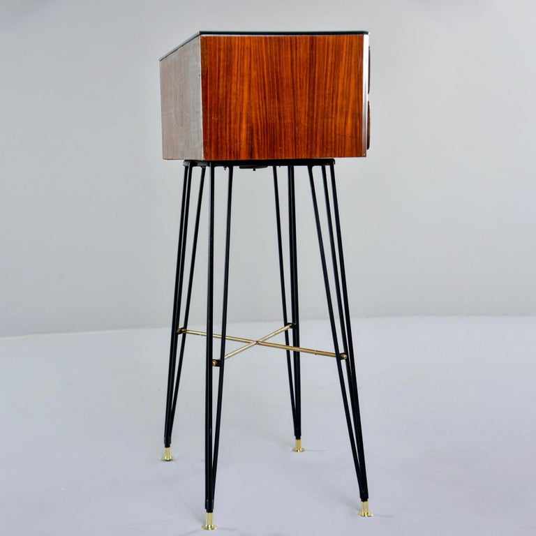 Small Italian Two-Drawer Side Cabinet with Hairpin Legs For Sale 6
