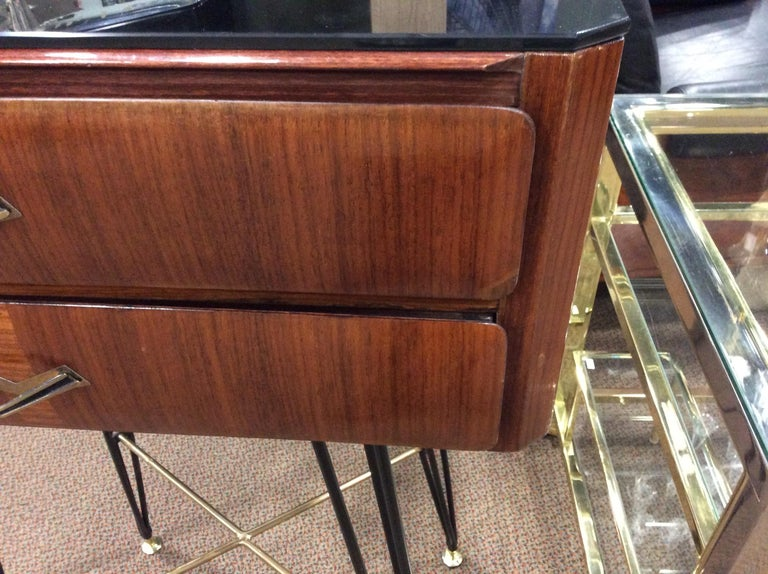 Small Italian Two-Drawer Side Cabinet with Hairpin Legs For Sale 7
