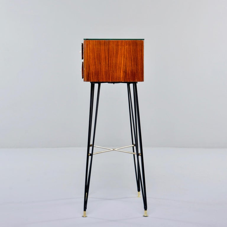 Small Italian Two-Drawer Side Cabinet with Hairpin Legs For Sale 2