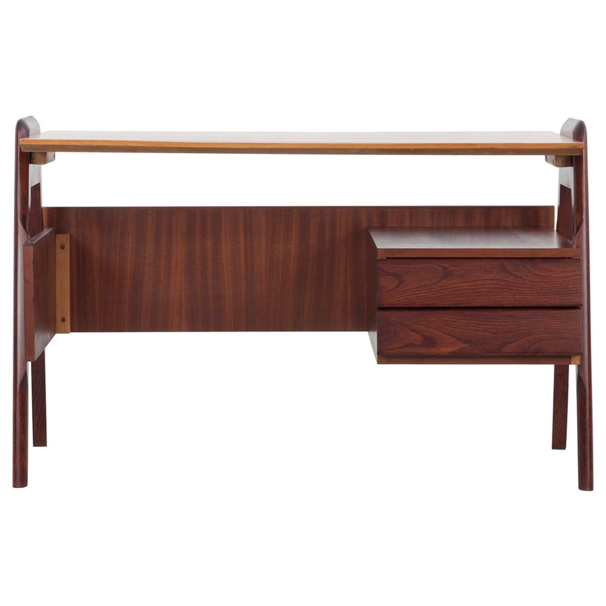 Small Italian Writing Desk with Two Drawers, 1950s