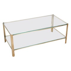 Jacques Quinet Two-Tier Coffee Table