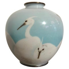Small Japanese Wireless Cloisonne Vase by Gonda Hirosuke, Taisho Period