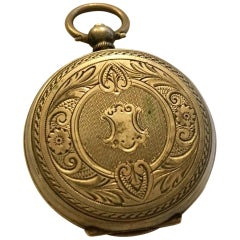 Small Key-Wind Antique Silver Pocket Watch