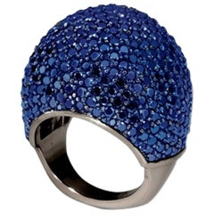 Small Lady Jane Dome Ring with Blue Sapphires