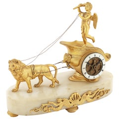 Small Late 19th Century French Gilt Bronze Timepiece