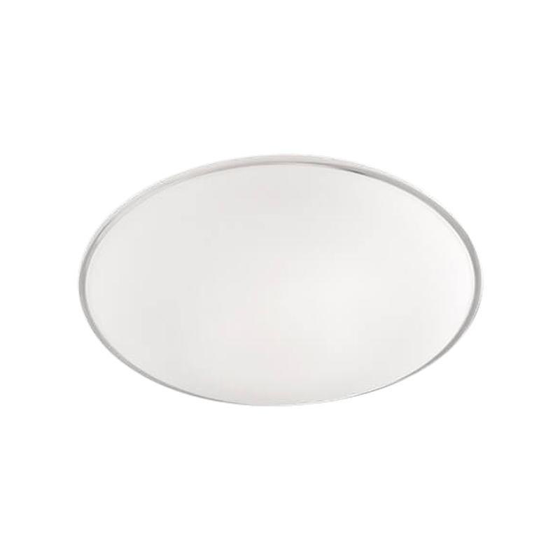 Small LED Aurora Flush Light in White Crystal by Vistosi