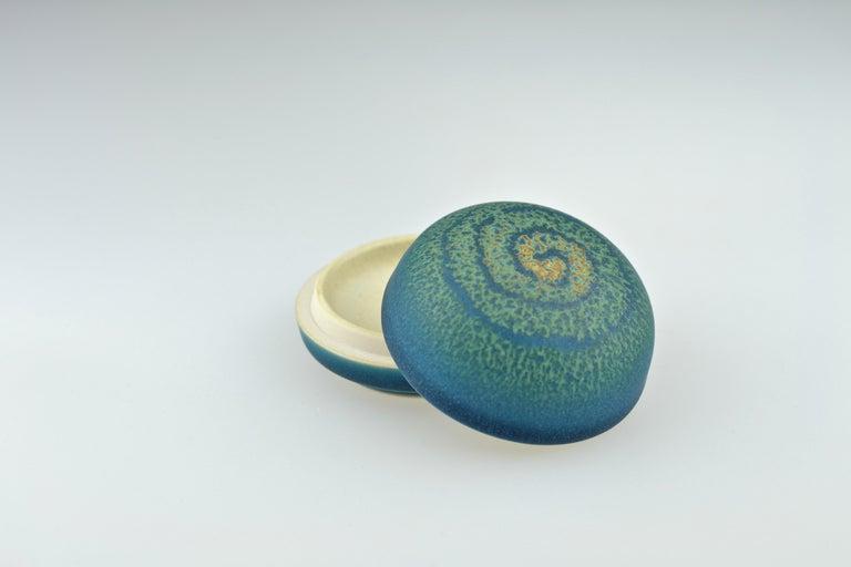 Glazed Small Lidded Box for Incence by Taniguchi Ryozo, 1926-1996 For Sale