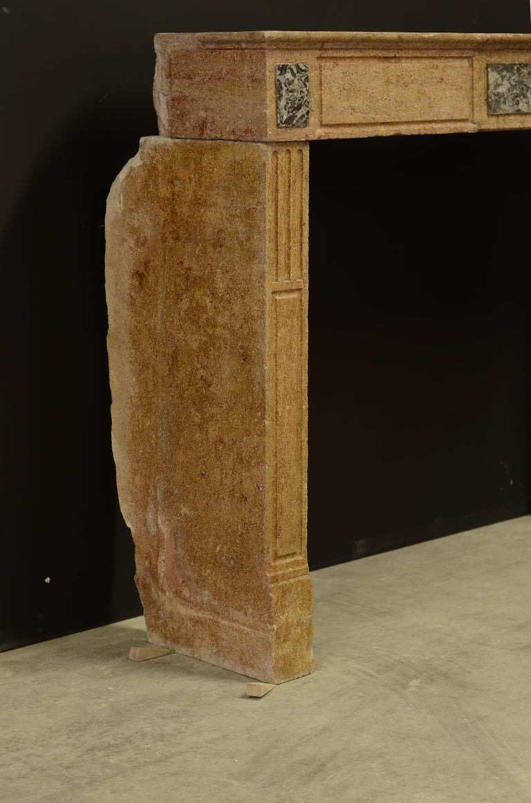 Small Limestone Louis XVI Fireplace Mantel For Sale 1