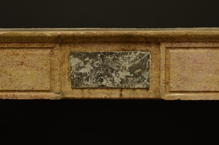 Small Limestone Louis XVI Fireplace Mantel For Sale 3