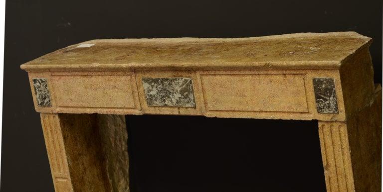 Small Limestone Louis XVI Fireplace Mantel For Sale 4
