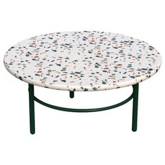 Small Lira Coffee Table, Green Terrazzo and Metal, Contemporary Mexican Design