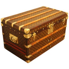 Small Louis Vuitton Stenciled Monogram Steamer Trunk, Small Louis Vuitton Trunk