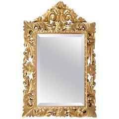 Small Louis XIII Style Giltwood Mirror, circa 1870