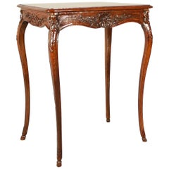 Small Louis XV Carved Oak Side Table