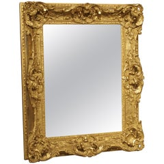 Small Louis XV Style Gilt Composite and Wood Mirror from France