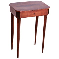 Small Mahogany Empire Side Table, Austria, Vien 1810-1819, Shellac Polished