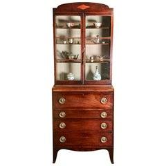Small Mahogany Secrétaire Bookcase, circa 1790