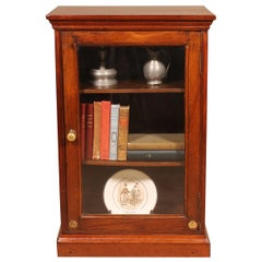 Small Mahogany Showcase or Display Cabinet, 19th Century