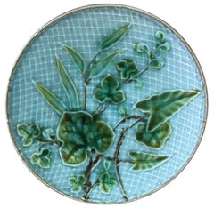 Small Majolica Leaves Plate, circa 1890