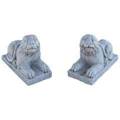 Small Marble Lions