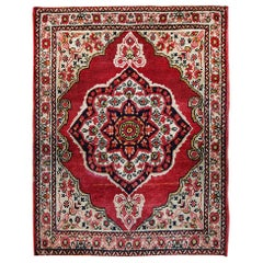 Small Mat Size Antique Persian Kerman Floral Rug. Size: 1 ft 10 in x 2 ft 6 in