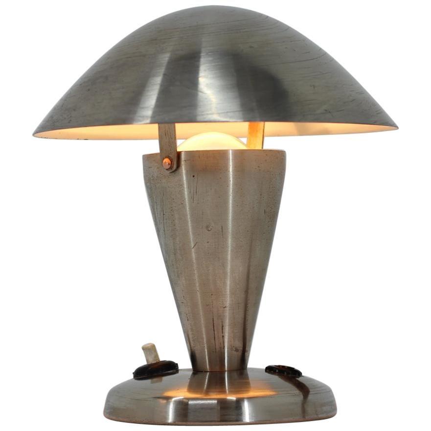 Small Metal Adjustable Bauhaus Table Lamp, 1940s