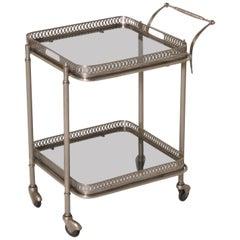 Small Metal Bar Cart, circa 1950