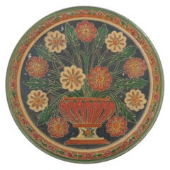 Small Metal Cloisonné Hand Painted Decorative Wall Plate