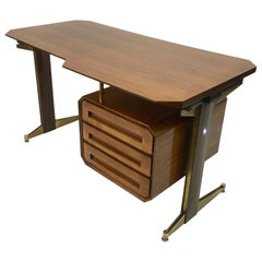 Small Mid Century 1950s Italian Desk by Dassi