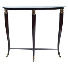 Small Midcentury Italian Console Table by Paola Buffa