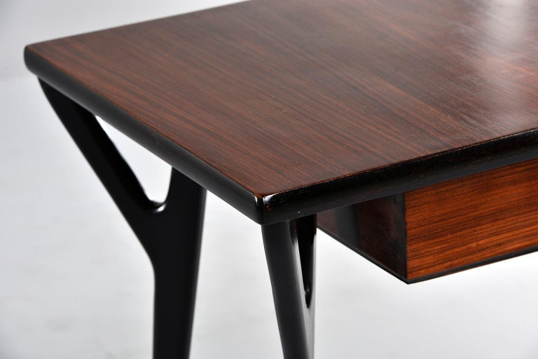 Small Midcentury Italian Desk or Writing Table 8