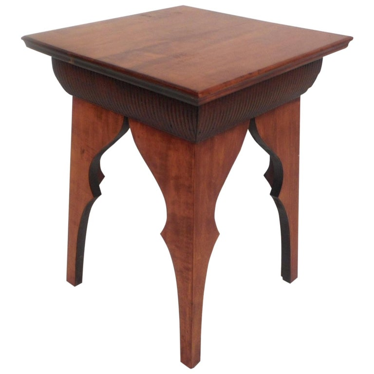 Small Mid Century Modern End Tables: Small Mid-Century Modern Sculpted Side Table Or Pedestal