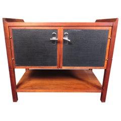 Small Mid-Century Modern Walnut Side Cabinet