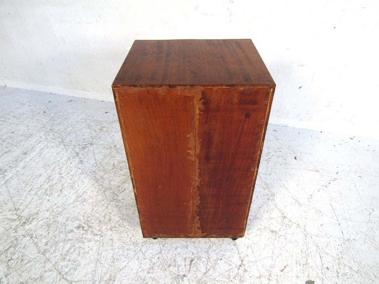 20th Century Small Midcentury Teak File Cabinet For Sale