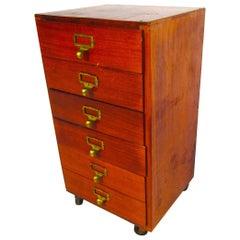 Small Midcentury Teak File Cabinet