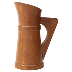 Small Mid-Century Vintage Wooden Pitcher, France, c. 1950s