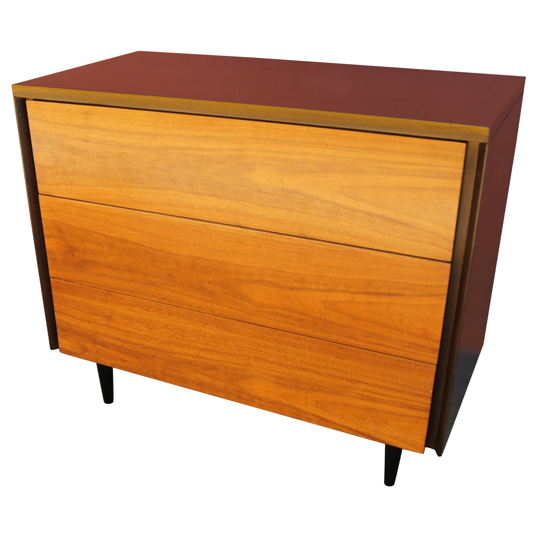 Small Midcentury Walnut Dresser