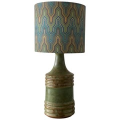 Small Midcentury Ceramic Table Lamp by Knabstrup, Denmark, 1950s