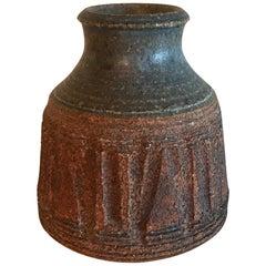 Small Midcentury Ceramic Vase Weed Pot Vintage Studio Ceramic Art