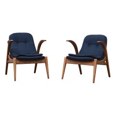 Small Midcentury Child Sized Penguin Lounge Chairs
