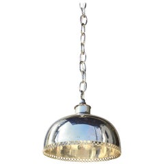 Small Mid-20th Century Silver Pendant Light