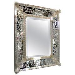 Small Midcentury Venetian Mirror