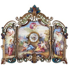 Small Miniature Screen in Gilded Bronze in the Louis XV